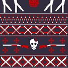 Zombie Christmas Shirt by Teo Zirinis