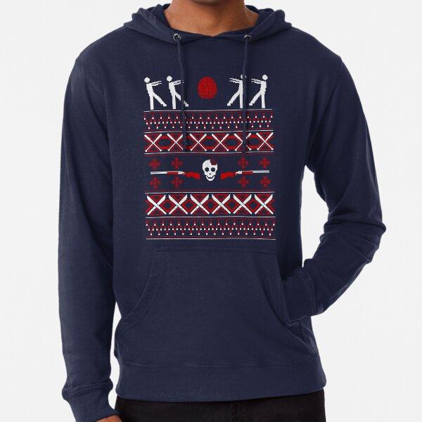 Zombie Christmas Shirt Lightweight Hoodie