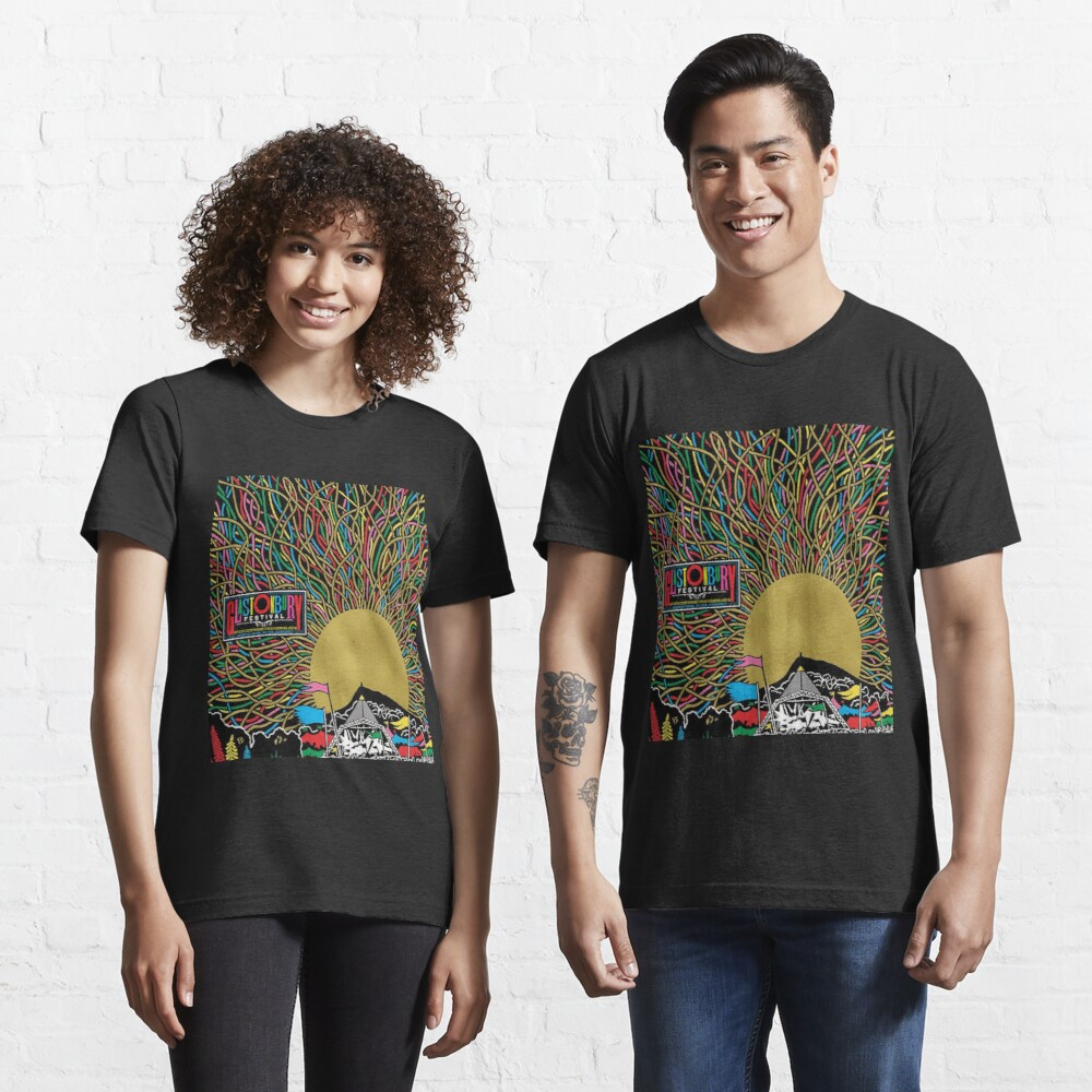 Glastonbury Festival Colourful Sunset Scene Graphic - perfect for Clothing, Prints & Merchandise Essential T-Shirt