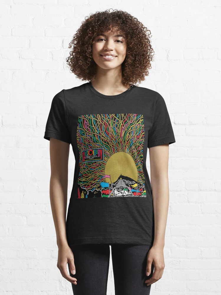 Alternate view of Glastonbury Festival Colourful Sunset Scene Graphic - perfect for Clothing, Prints & Merchandise Essential T-Shirt