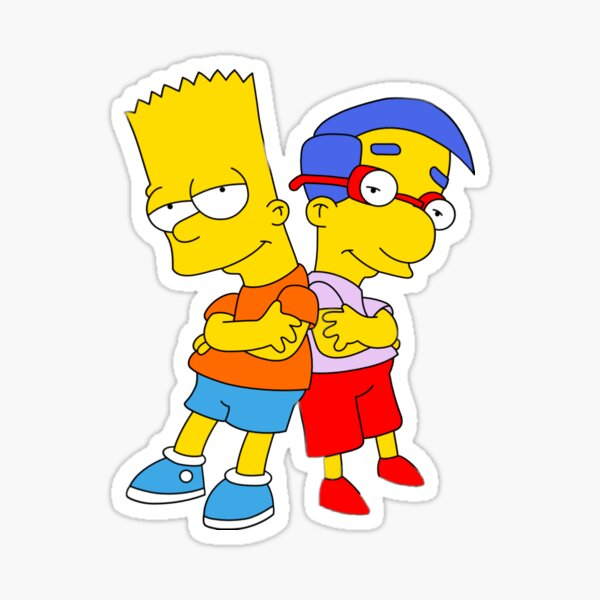 Bart & Milhouse Sticker