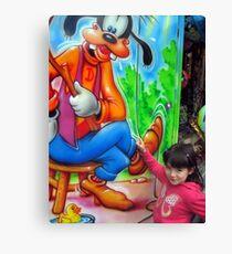 I love Goofy Canvas Print