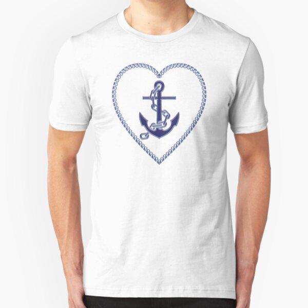 Rockabilly t-shirt swim or sink vintage MATELOT MARIN ANCRE BATEAU