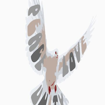 Peace Love Unity Dove by Geminite