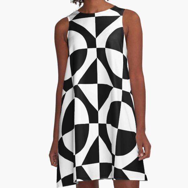 Black & White 1960's Style Two Tone Ska Mod A-Line Dress