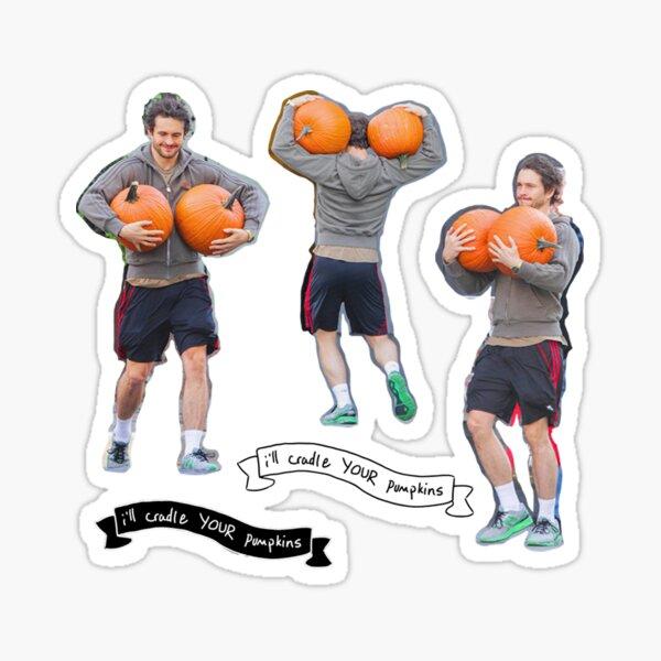 Hugh Dancy & his pumpkins Sticker