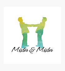 Mister and Mister, Customizable watercolor favor Wedding celebration Photographic Print