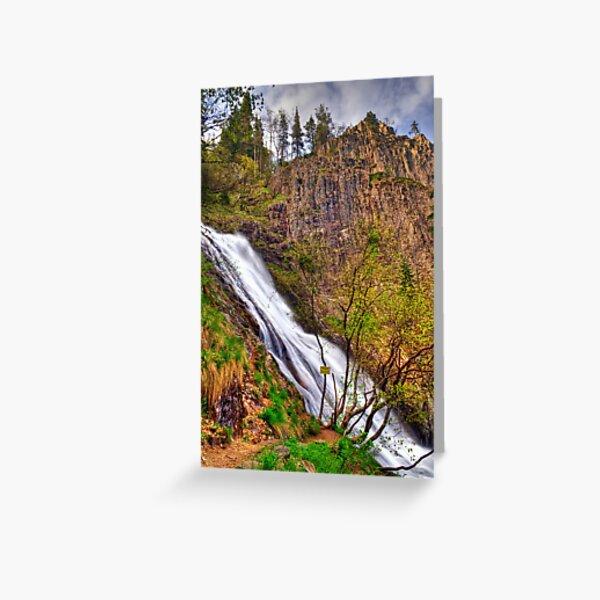 Orfei Waterfall Greeting Card