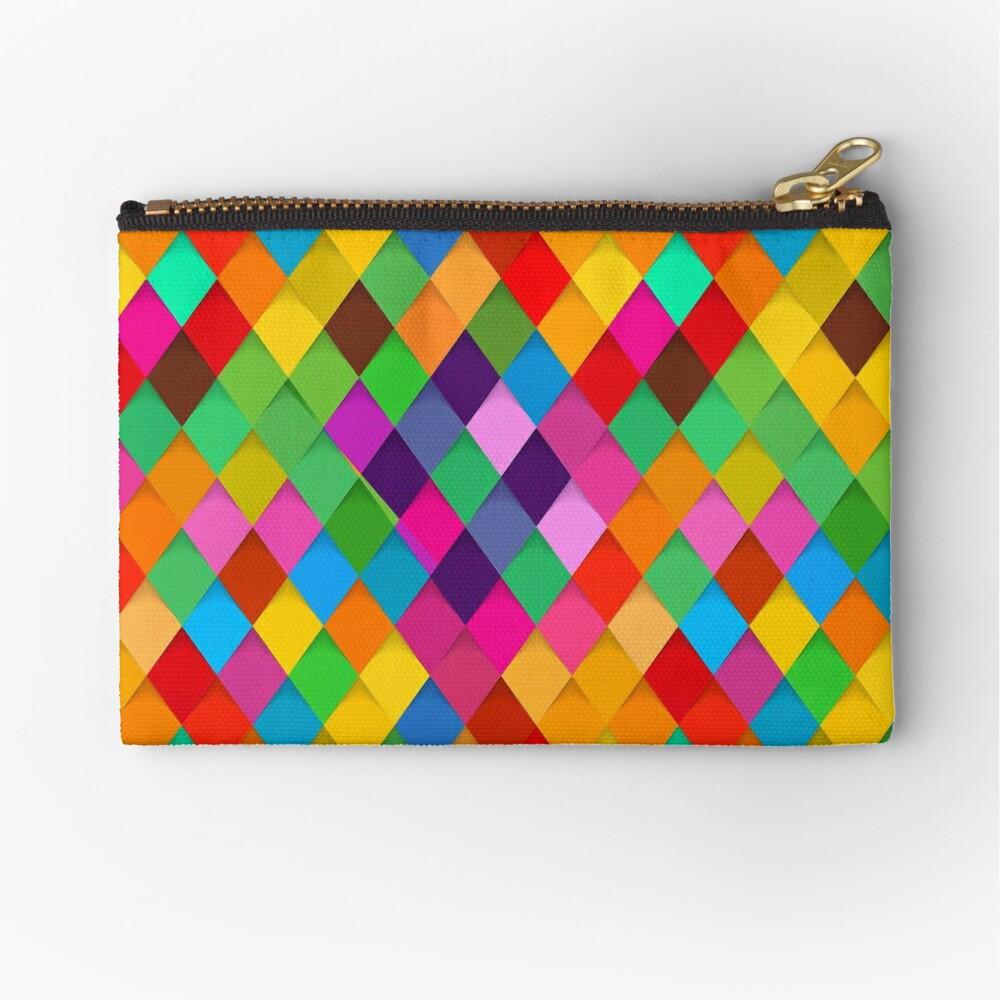 Birds Of Prey Colorful Diamonds Zipper Pouch By Nellylara Redbubble