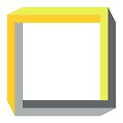 Impossible squares in yellow and gray by cesarpadilla