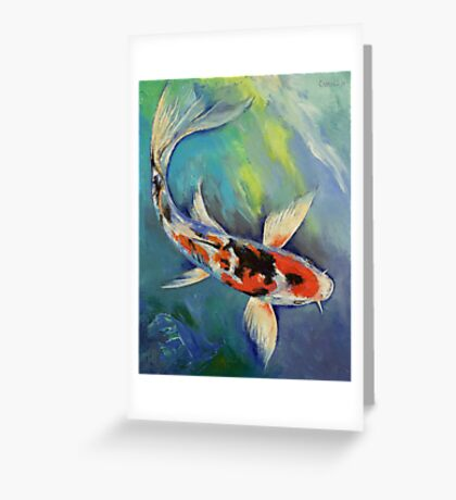Showa Butterfly Koi Greeting Card