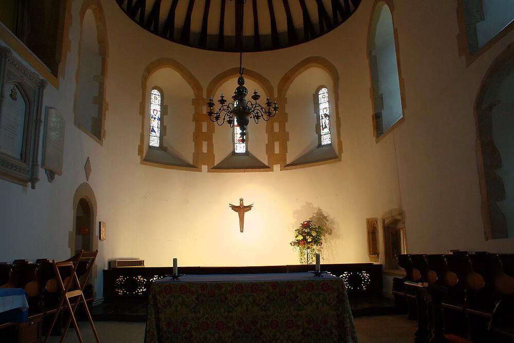 St Nicholas Bishop of Myra, Worth - Sanctuary by Dave Godden