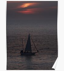 Peaceful sailing at the Pacific Ocean  Poster