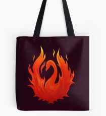 Swan on Fire (Color) Tote Bag
