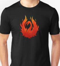 Swan on Fire (Color) Unisex T-Shirt