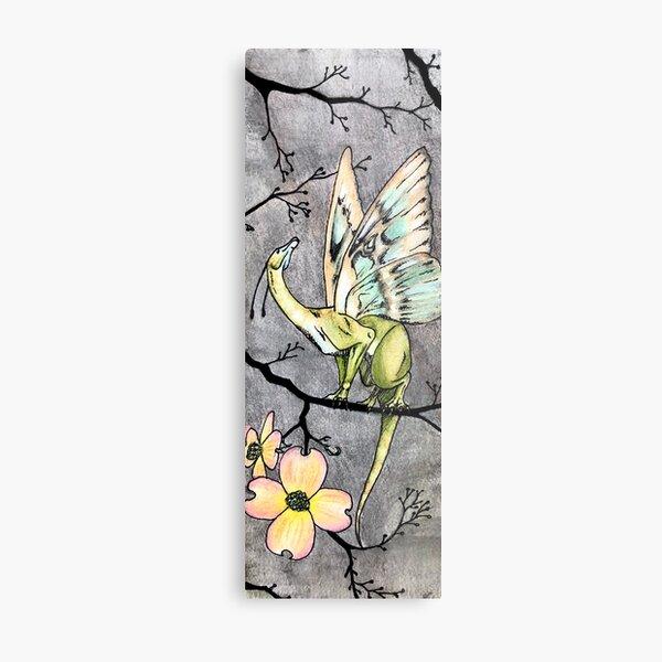 Moth Dragon Metal Print