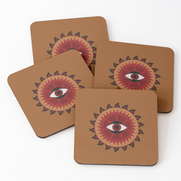 Burning Vision (Retina Version) Coasters (Set of 4)