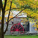 Sudbury Grist Mill in the Fall by Steve Borichevsky