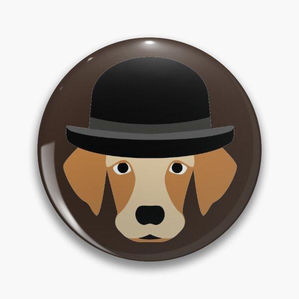 NDVH Dog Wearing a Bowler Hat Pin