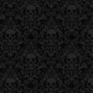 Skull Damask Wallpaper by jimiyo