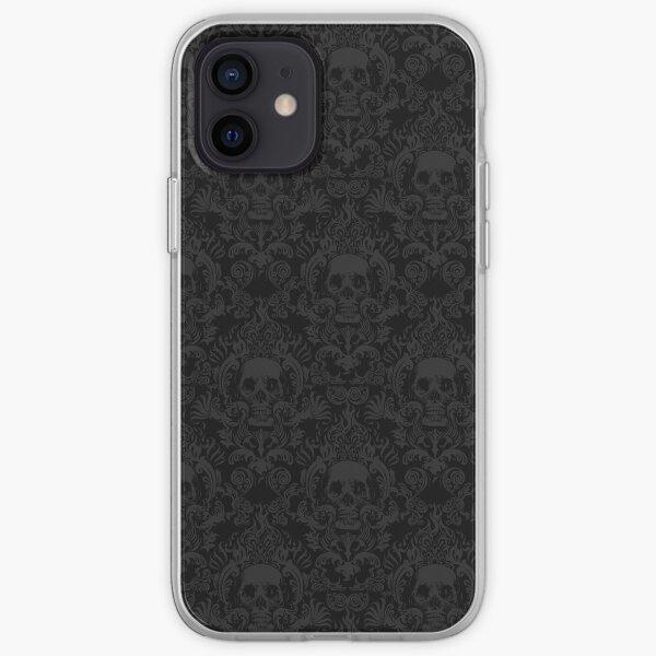 Skull Damask Wallpaper iPhone Soft Case