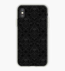 Skull Damask Wallpaper iPhone Case