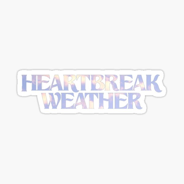 heartbreak weather clouds. Sticker