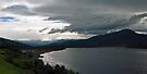 Approaching storm pano, Franklin, Tasmania by Odille Esmonde-Morgan