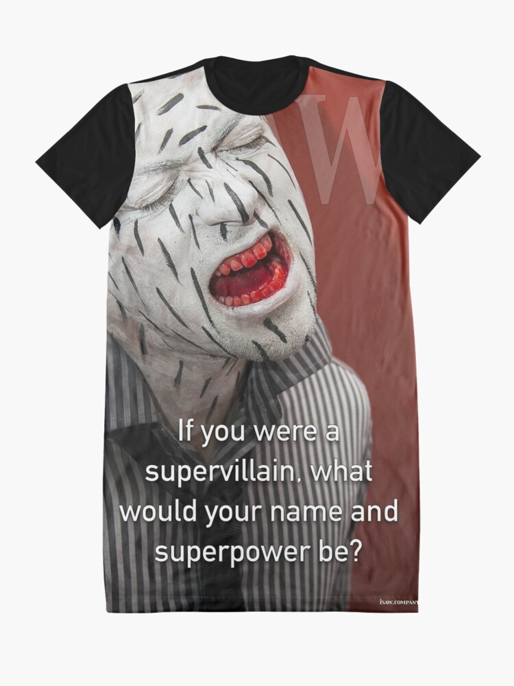 Alternate view of If You Were A Supervillain Graphic T-Shirt Dress