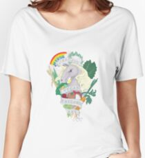 Bad*ss Vegan Unicorn Women's Relaxed Fit T-Shirt