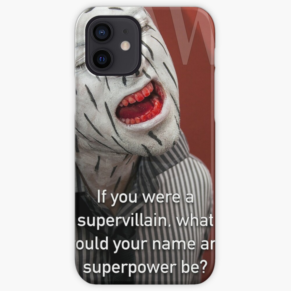 If You Were A Supervillain iPhone Case & Cover