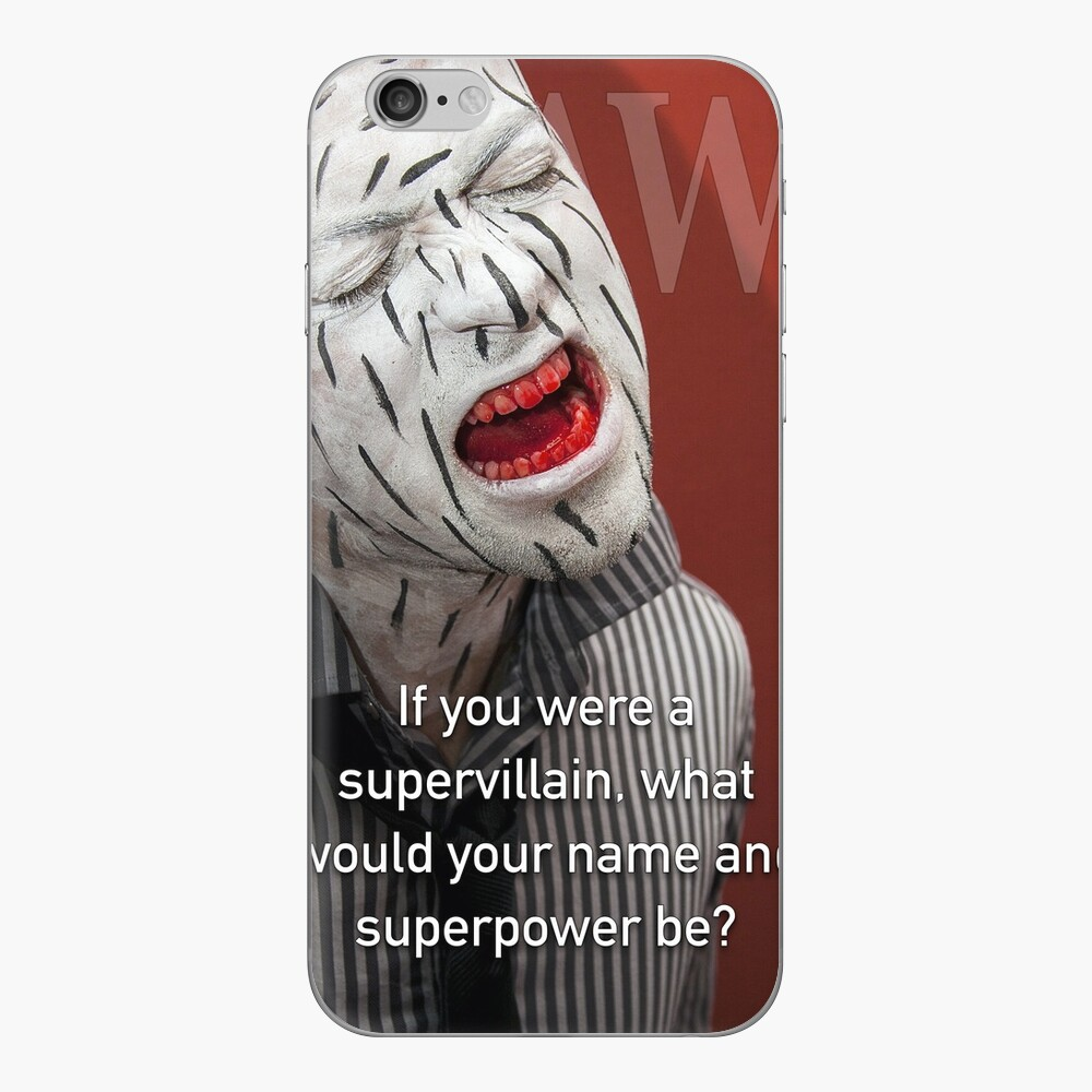 If You Were A Supervillain iPhone Skin