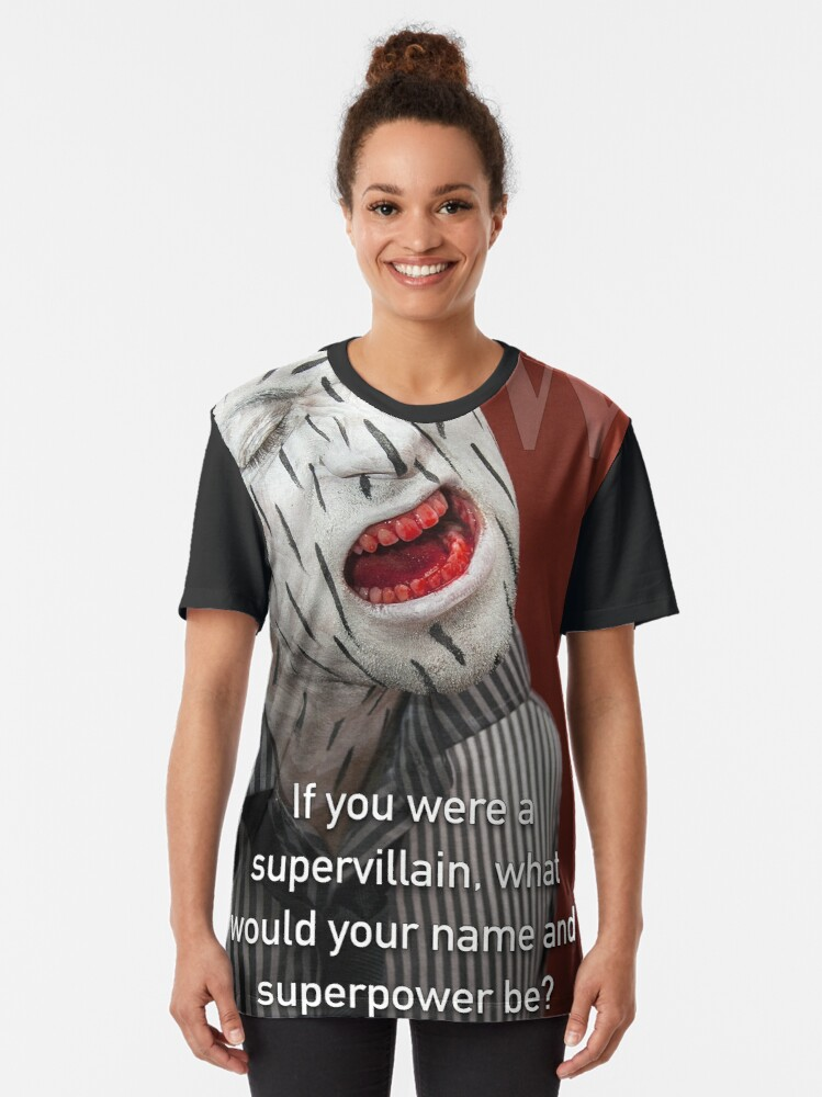 Alternate view of If You Were A Supervillain Graphic T-Shirt