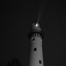 Lighthouse at Night by Thomas Murphy