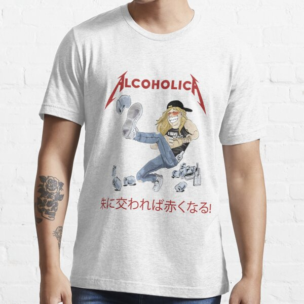 Alcoholica Young Drunk James Hetfield Metallica Cartoon Illustration T-shirt essentiel