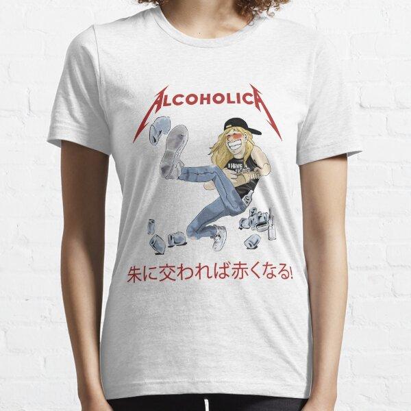 Alcoholica Young Drunk James Hetfield Metallica Cartoon Illustration  Essential T-Shirt