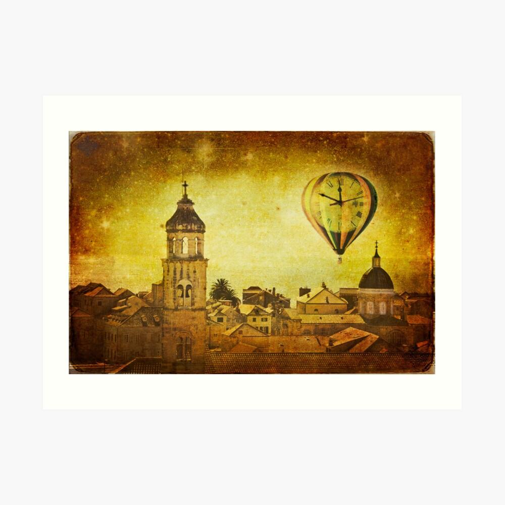 Time traveller Kunstdruck