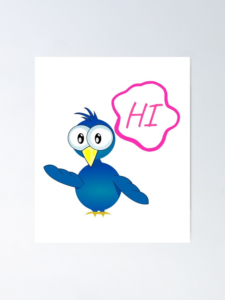 Cute Bird Cartoon Poster By Ronaldkitama Redbubble