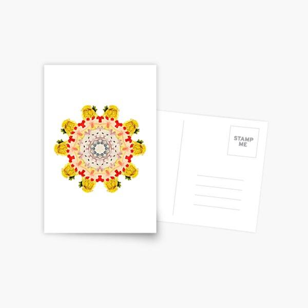 Royal Kitties, Cakes + Diamonds Mandala Postcard