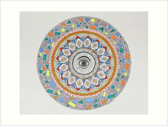 Mandala/12 - Eye by EllenGambrell