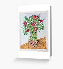 Flowers/21 - Clear Vase with Pebbles/1 Greeting Card