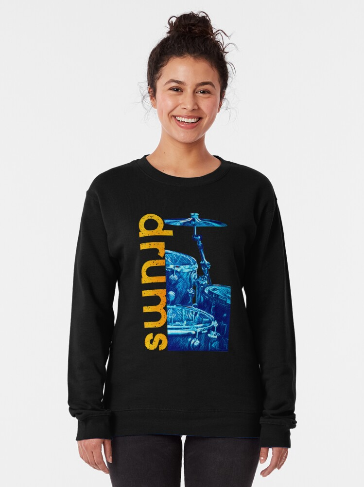 Alternate view of Blue Drums Pullover Sweatshirt