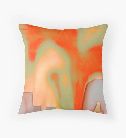 textured : fractured Throw Pillow
