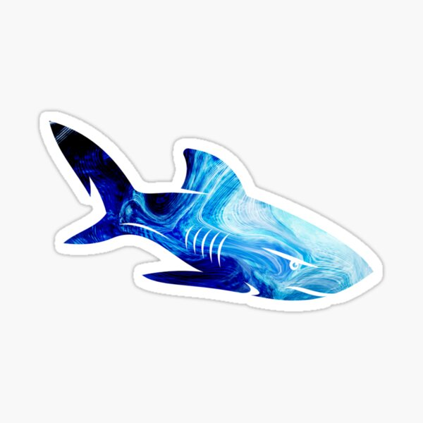 Abstract shark Sticker