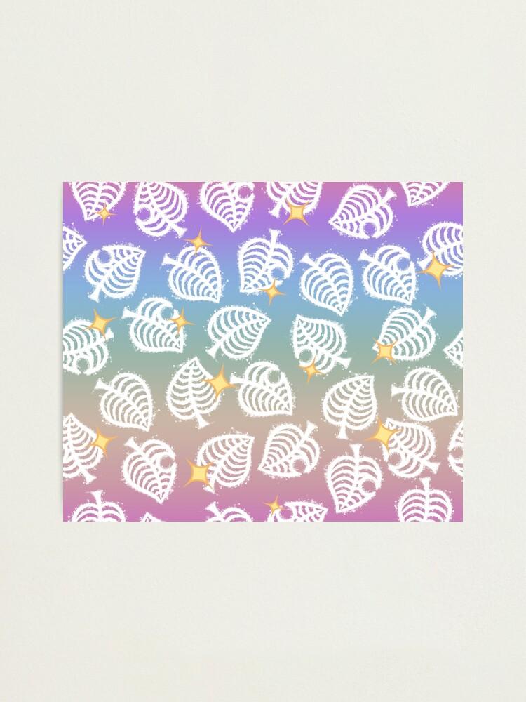 Cute Animal Crossing New Horizons Rainbow Leaf Pattern