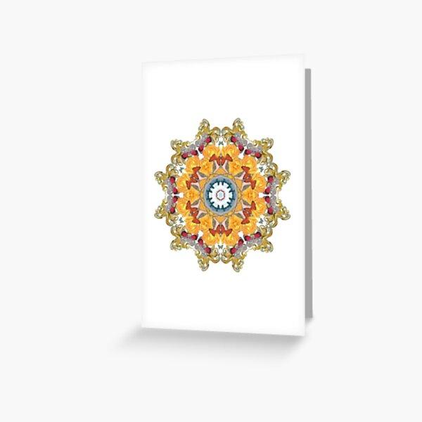 Octopus' Garden Mandala Greeting Card