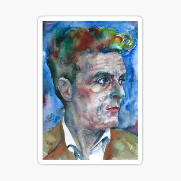 LUDWIG WITTGENSTEIN watercolor portrait.9 Sticker