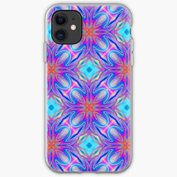 Psychedelic Repeat Pattern iPhone Soft Case