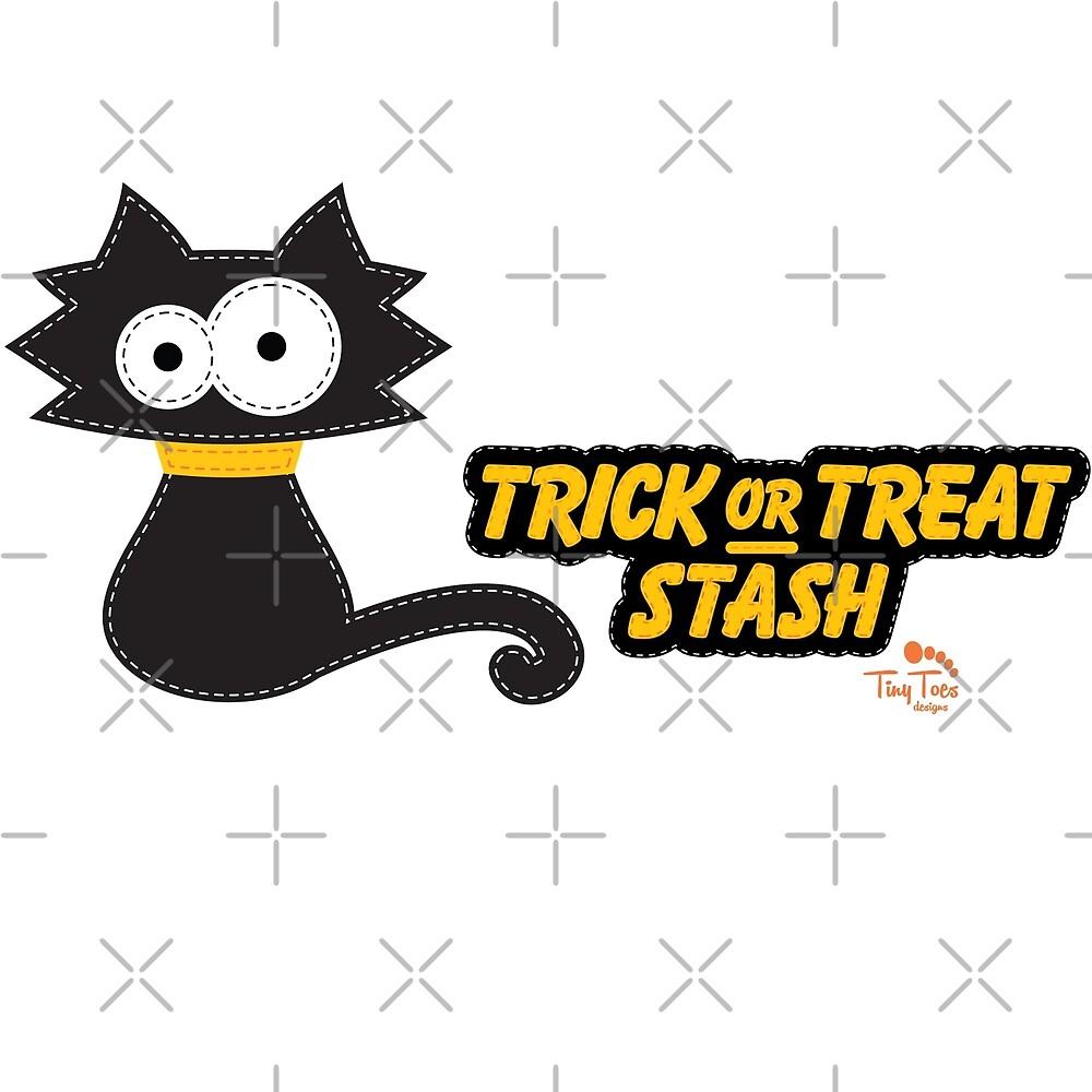 Black Cat Trick or Treat Stash by BadCatDesigns