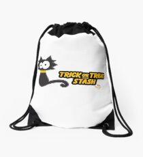 Black Cat Trick or Treat Stash Drawstring Bag